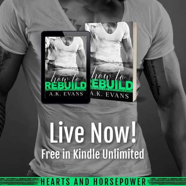 How to Rebuild by A.K. Evans - live