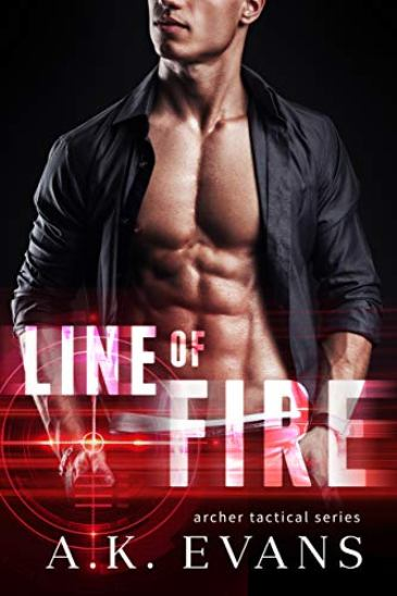 Line of Fire by A.K. Evans  - cover