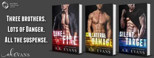 Line of Fire by A.K. Evans - series