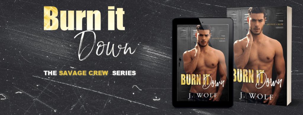 Burn it Down by J. Wolf - banner
