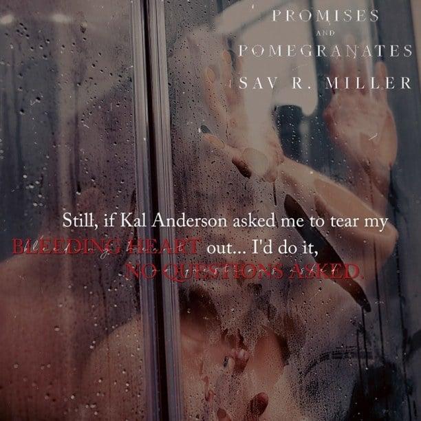 Promises and Pomegranates by Sav R. Miller - bleeding heart