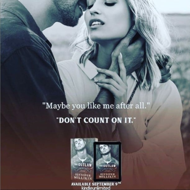 The Outlaw by Jennifer Millikin - don't count on it